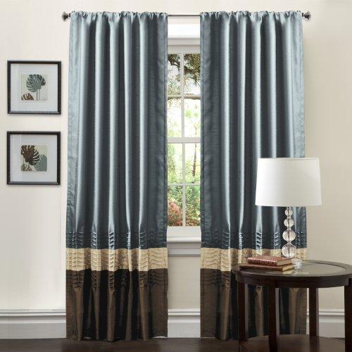 Good Lush Decor Mia Curtain Panel Pair, 54 Inch By 84 Inch, Federal Blue