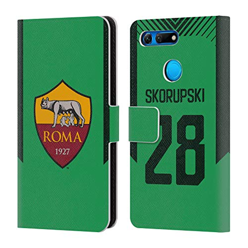 Official AS Roma Lukasz Skorupski 2017/18 Players Third Kit Group 2 Leather Book Wallet Case Cover Compatible for Huawei Honor View 20 / V20