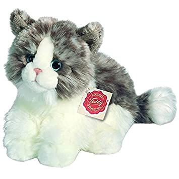 Hermann Teddy Collection- Gato Peluche, Color marón y Blanco (T90672 8)