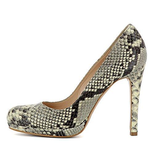 Zapatos para Shoes de Cristina mujer Piel de marrón Evita vestir 0qE44d
