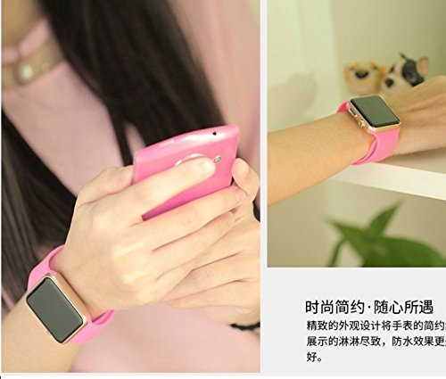 Generic Waterproof watch Korean women girls lady junior high school student L non-intelligent touch-screen lovers electronic watch children watch the boy