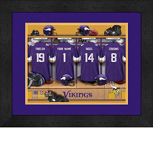 Photo File Locker Room Minnesota Vikings Framed Posters 16x12 Inches
