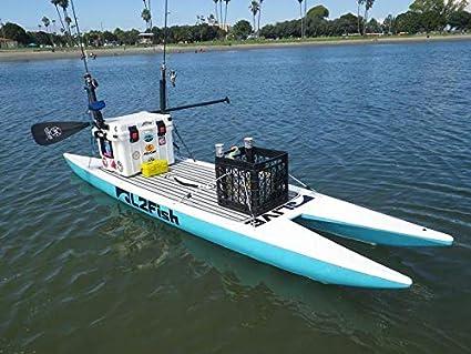 05c0348cd7b4 Inflatable PVC Fishing Platform Paddle Board Surf Board Dingy Raft Boat  (10x2.7ft.