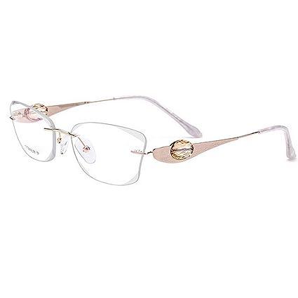 4c2e63d0f2 Gafas de Negocios sin Marco de Titanio Puro cristalino Claro Lente Lentes  de Ocio Gafas de