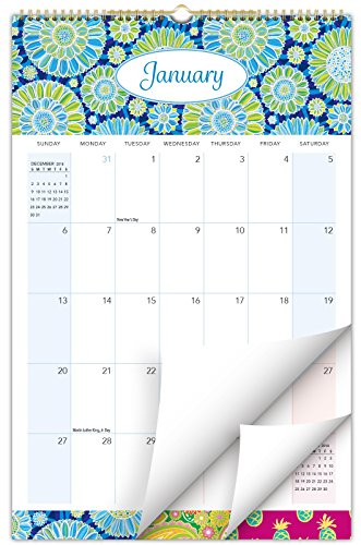 """2019 Wall Calendar - 11""""x17"""" - Colorful, Vibrant, Fun and Fashionable Monthly Calendar (Assorted Patterns)"""