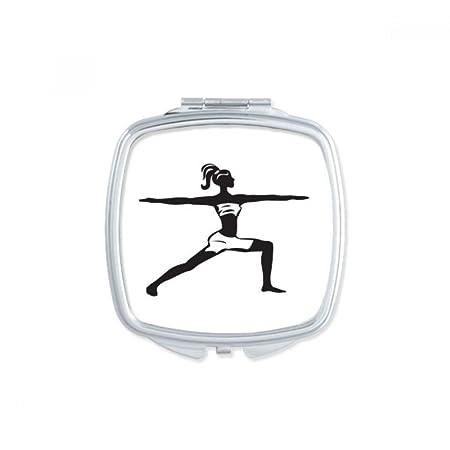 DIYthinker Espejo de Bolsillo de Yoga Girl Mantener Sano de ...