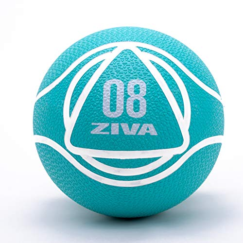 ZIVA Rubber Medicine Exercise Ball – Multiple, 2lbs-12lbs – Workouts, Core Training, Agility, Balance