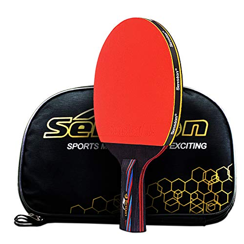 Caleson Table Tennis Racket With Double Carbon Blade Pen Hold Grip Buy Online In Albania Caleson Products In Albania See Prices Reviews And Free Delivery Over 7 500 Lek Desertcart