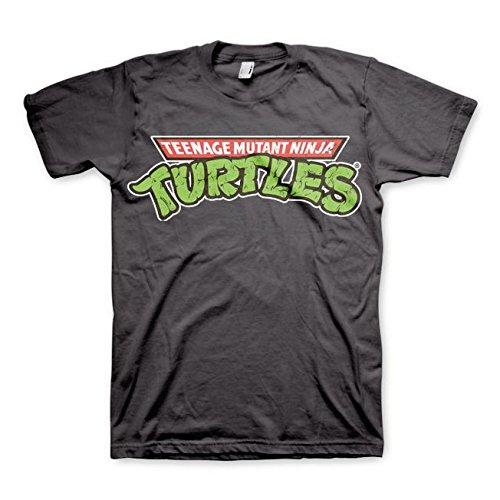 Las Tortugas Ninja del Logotipo Gris Camiseta de los Hombres de los 0ficiales T Shirt