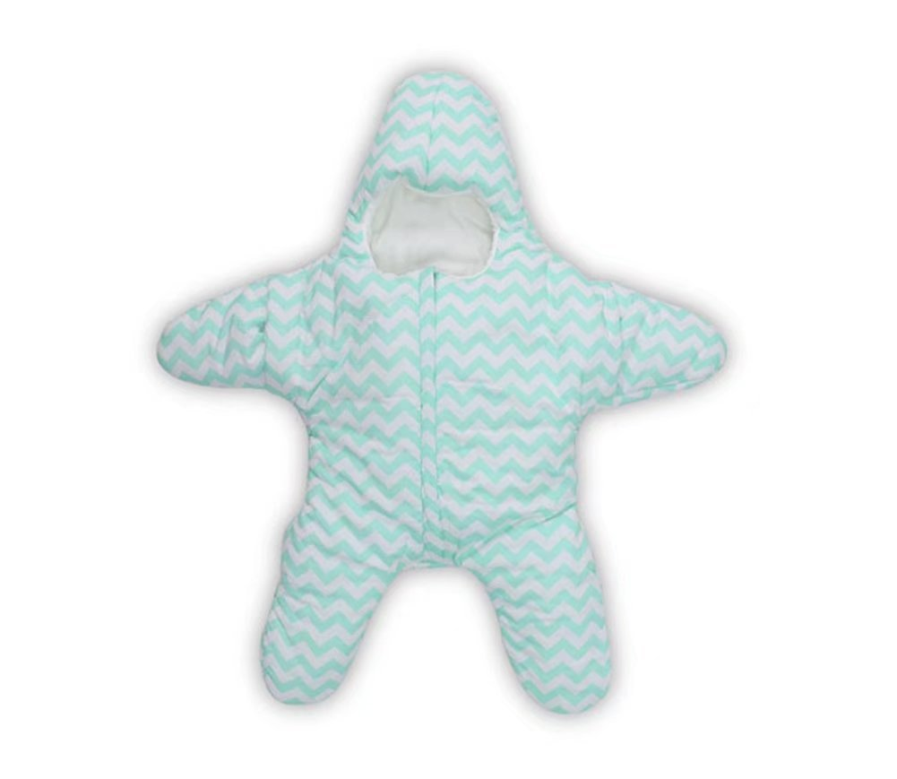 Dorapocket Baby Starfish Bunting Cotton Sleeping Bag Newborn Sacks Swaddling Blanket,Green