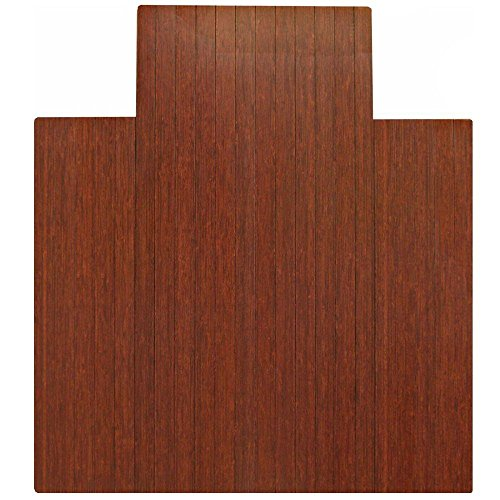 SKB family 36 x 48 Bamboo Roll-Up Chair Mat with Tongue, 48