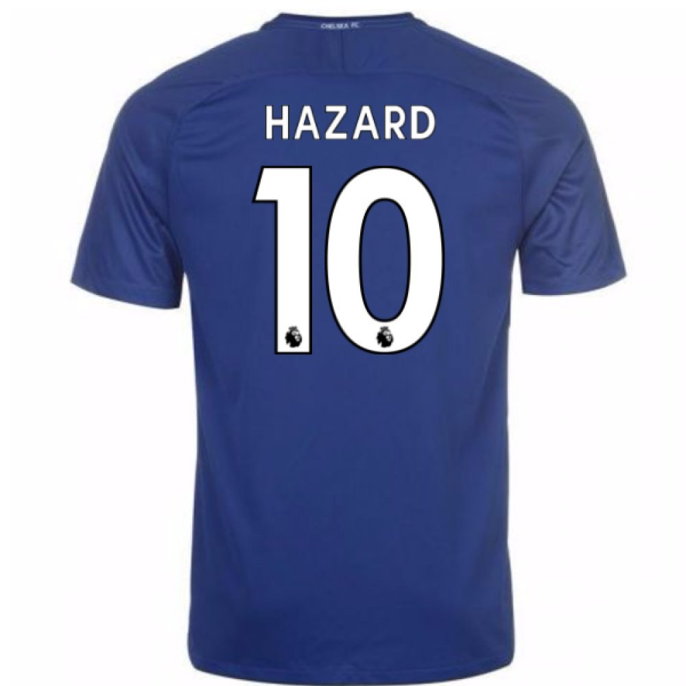 2017-18 Chelsea Home Shirt (Hazard 10) Kids B077TJX75N LB 30-32