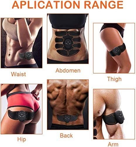 Abs Stimulator - Automatic Fitness System - Portable Fitness Workout Equipment - Home Office Exercise for Men Women with 12 Extra Gel Pads 3