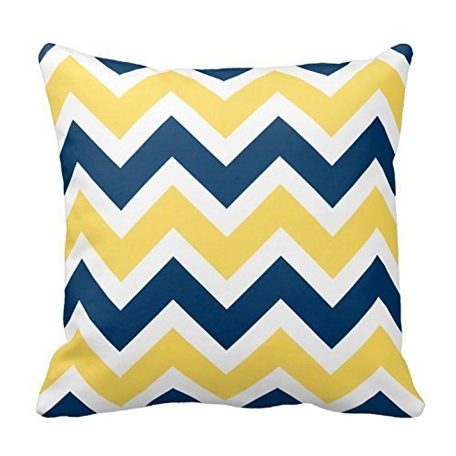 Yellow Chevron Pattern Decorative Cushion product image
