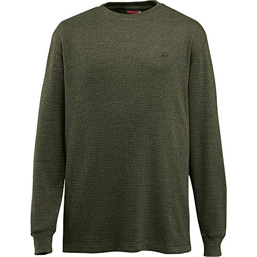 Mens Waffle Knit Tees - Wolverine Men's Walden Long Sleeve Tee, Olive, X-Large