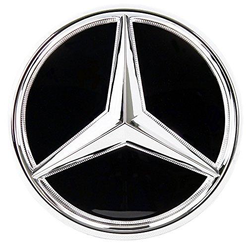 JSAMZ LED Emblem for Mercedes Benz, Front Car Grille Badge, Illuminated Logo Hood Star DRL (GLC GLE GLS)