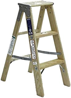 product image for Michigan Ladder 1311-03 250 Pound Duty Rating Type 1 Stocky Wood Stepladder, 3-Foot