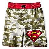 Superman Little Boys Cameo Swim Trunks Bathing Suit
