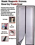 TradeGear Magnetic Screen Door Fits Full Frame Door Openings Up To 38''x 82'' Heavy-Duty Made of Durable Fiberglass Mesh And Sewn-In Magnets Keeps The Bugs Out And Lets The Fresh Air And Breeze In