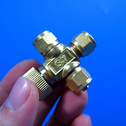 CO2 REGULATOR -PRECISE Brass Needle Valve (1to2 T type) aquarium water plants planted tank for 4/6mm air tube