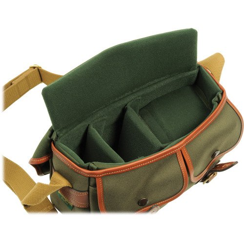 Billingham Hadley Small, Camera or Document Shoulder Bag, Sage Canvas with Tan Leather Trim and Brass Fittings by Billingham (Image #1)