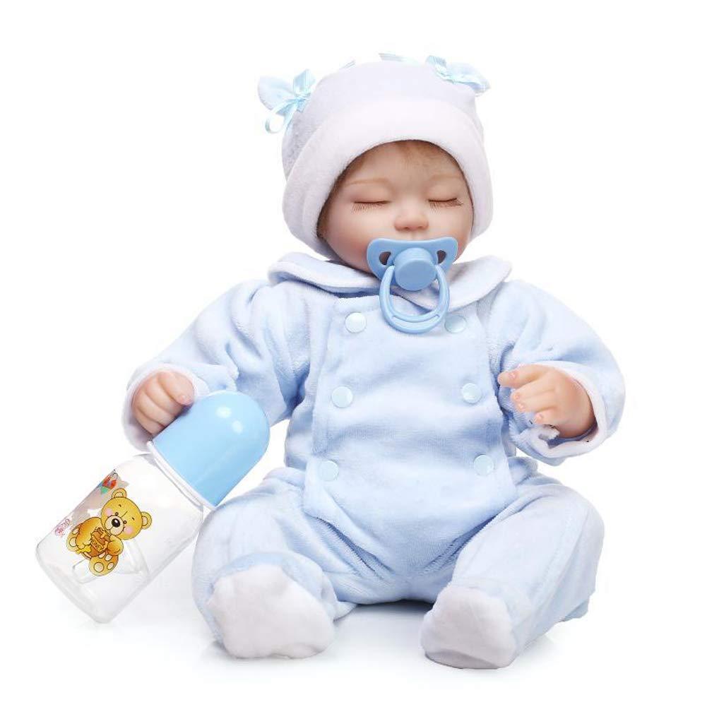 Homesave Bambino Reborn, 16,53 Pollici Morbido Silicone con Bottiglia, Regalo per età 3 +