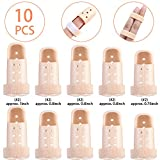 Chuangdi 10 Pieces Finger Splint Mallet Finger Support Plastic Finger Support Protector for Basketball