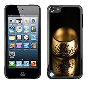 Slim Design Hard PC/Aluminum Shell Case Cover for Apple iPod Touch 5 Macro Ring / JUSTGO PHONE PROTECTOR