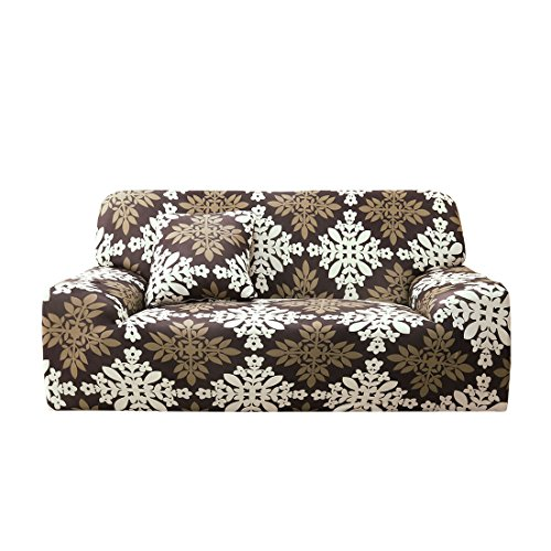 1 Seater Sofa - uxcell 1 2 3 4 Seater Sofa Covers Sofa Slipcovers Protector Elastic Polyester Spandex Fabric Featuring Soft Form Fit Couch Covers With One Free Cushion Case #12 (76 x 90 Inch)