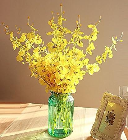 Amazon Xhopos Home Artificial Flowers Transparent Glass Vase