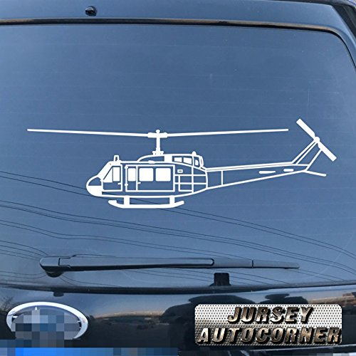 3S MOTORLINE Bell UH-1D Iroquois Huey U.S. Army Helicopter Decal Sticker Car Vinyl pick size color die cut a (white, 8'' (20.3cm))