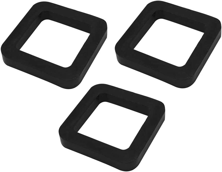 Vkinman 2 Inch Hitch Receiver Silencer Pads for Adjustable Ball Mounts Provide Cushion Between Receivers and Tow Hitchs 3Pcs