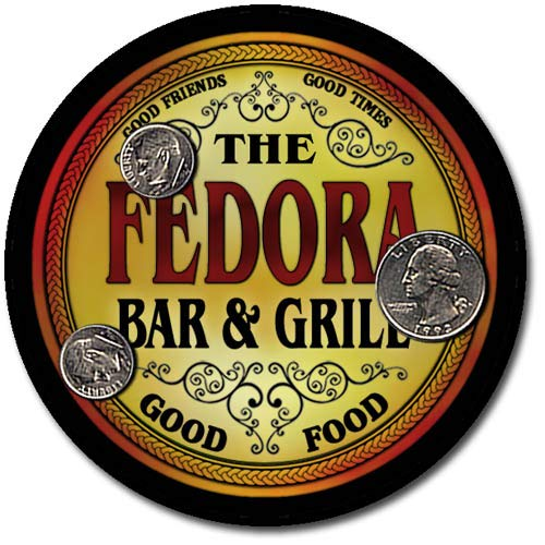 Fedora Family Bar and Grill Patriotic Rubber Drink Coaster Set