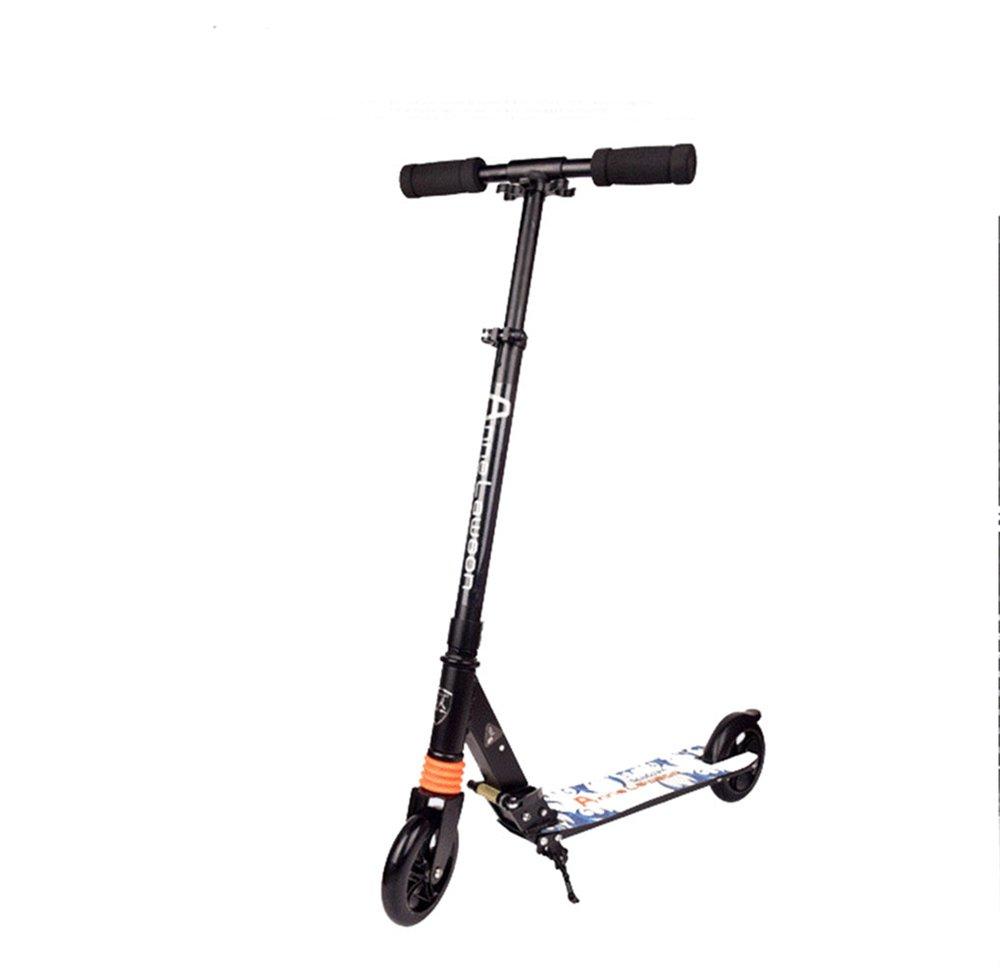 Yzibei Niños abatiendo Patada Scooter Vespa Ajustable Plegable de la Rueda de la Vespa de la Rueda Grande Todo-Aluminio de la 2-Rueda
