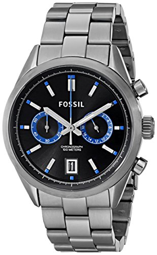 Fossil Men's CH2970 Del Rey Stainless Steel Watch with Link Bracelet