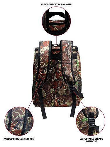 Large Padded Backpack Cooler - Fully Insulated, Leak and Water Resistant, Adjustable Shoulder Straps, Extra Storage Pockets - Camo - by GigaTent by GigaTent (Image #4)