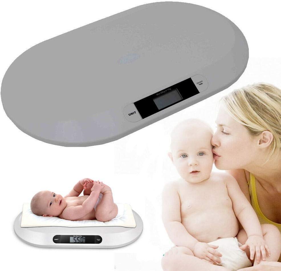 hasta 20 kg B/áscula digital para beb/és y ni/ños peque/ños Savada