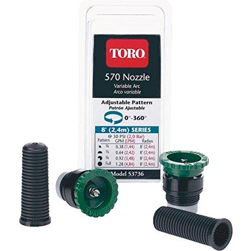Toro 53735 570 MPR Adjustable Variable Arc Nozzle with 10' Throw (10' Radius Adjustable Arc)