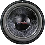 American Bass 15 Inch Subwoofer Hd Series Dual 1 Ohm Carbon Fiber Cone