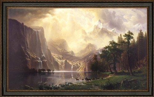 Frame Bierstadt Canvas - Albert Bierstadt Among The Sierra Nevada Mountans - 18.05