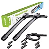 ASLAM Windshield Wipers All-Season Blade Type-M 26'+16',Multifunctional Adapters and Refills Replaceable,Double Service Life(set of 2)