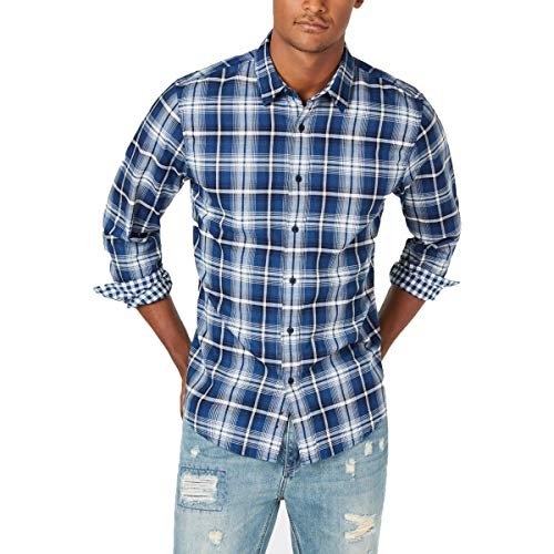 AMERICAN RAG CIE Men's Double-face Plaid Button-Front Shirt from AMERICAN RAG CIE
