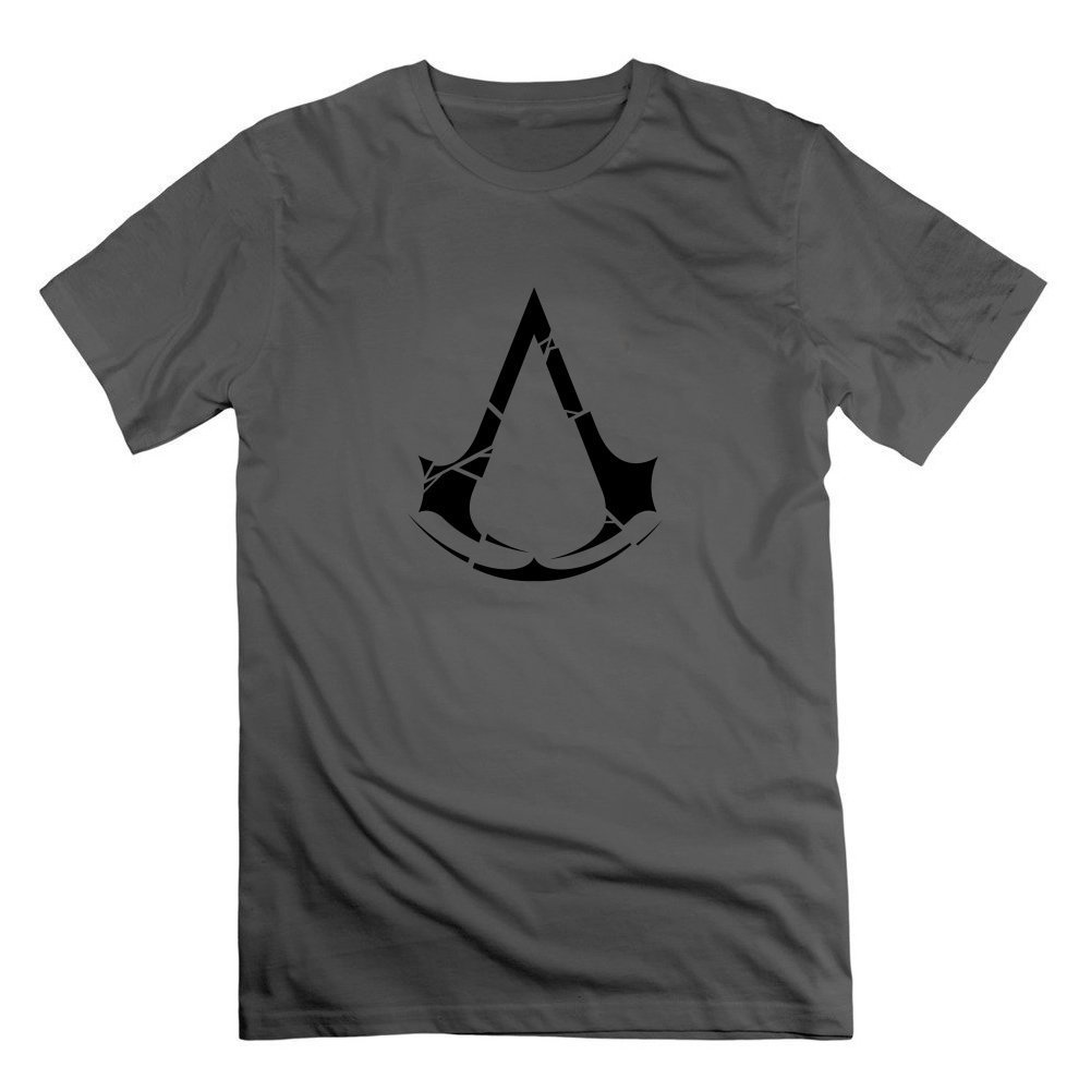 Dfkjgkjgfgj Men Cotton Gray Customized Regular Chic Assasins Creed 3 Tee Large Gray,largegray,Large
