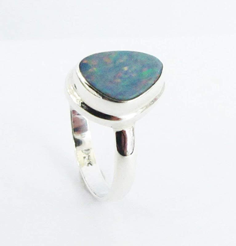 Very Lovely Natural Australian Opal Ring Multi Fire 925 Solid Sterling Silver Ring Jewelry Handmade A++ Opal Diwali Sale Gift for Rings