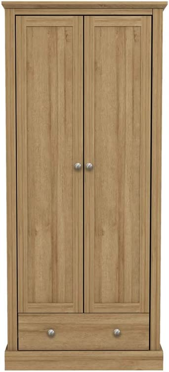 Oak 2 Door Sliding Wardrobe LPD Devon Country Style Wooden Bedroom Furniture Range