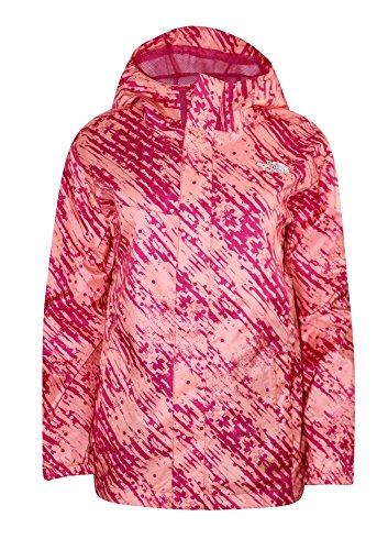 The North Face Toddler Girls Quinn Rain Shell Jacket (4T, Pink Print)