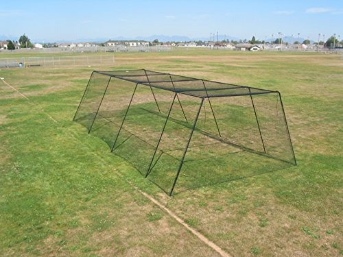 Frame Kit for Trapezoid Batting Cage Net (70' Batting Cage Frame)