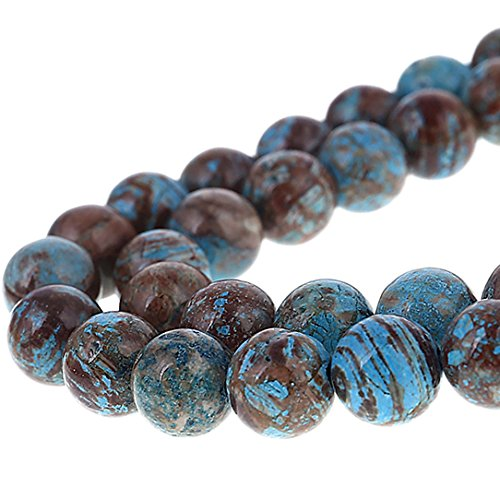 Bingcute 8mm Natural Crazy Blue Lace Agate Gemstone Beads for Jewelry Making- 15.5