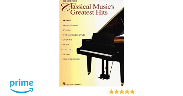 Classical musics greatest hits hal leonard corp 9780634003738 classical musics greatest hits hal leonard corp 9780634003738 amazon books fandeluxe Image collections