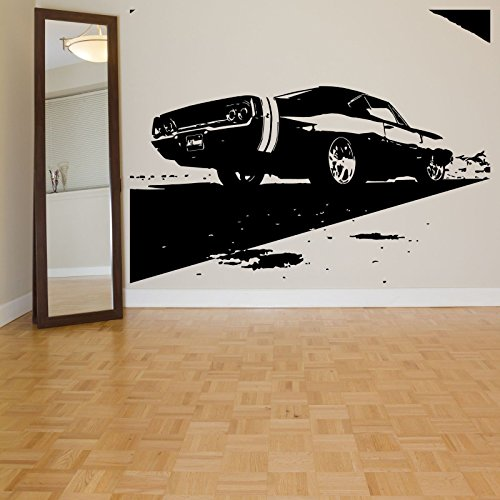 Sports Race Muscle Car Ford Mustang Wall Decal Art Decor Vinyl Sticker